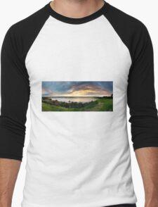 Sandringham yacht club sunset Men's Baseball ¾ T-Shirt