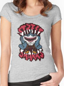 Jawsome - Street Sharks Women's Fitted Scoop T-Shirt