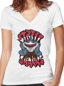 Jawsome - Street Sharks Women's Fitted V-Neck T-Shirt