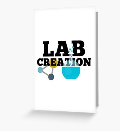 Lab Creation Science Themed Greeting Card