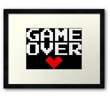 [Black] Game Over My Love Framed Print