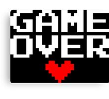 [Black] Game Over My Love Canvas Print