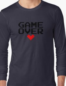 [White] Game Over My Love Long Sleeve T-Shirt