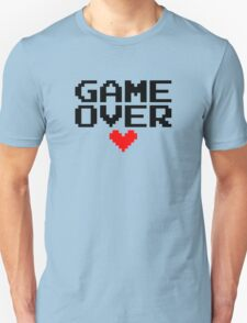 [White] Game Over My Love T-Shirt