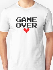 [White] Game Over My Love Unisex T-Shirt