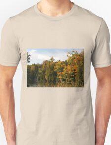 Early Fall Season around the lake. T-Shirt