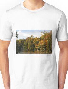 Early Fall Season around the lake. Unisex T-Shirt