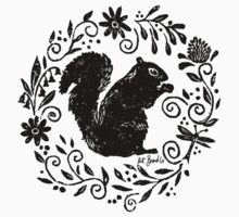 Squirrel Thistle Baby Tee