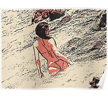 At the beach - sexy girl in bikini 6 Poster