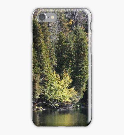 Light, Forest, Autumn and Lake. iPhone Case/Skin