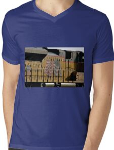 Patriotic Train Mens V-Neck T-Shirt