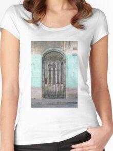 Shuttered Door  Women's Fitted Scoop T-Shirt
