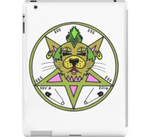 PUNK KITTY WHT iPad Case/Skin