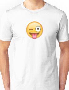 Tongue Out Emoji Unisex T-Shirt