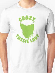 Crazy Tassie Lady Unisex T-Shirt