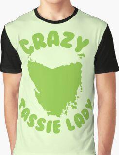 Crazy Tassie Lady Graphic T-Shirt