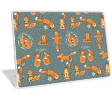 Red little foxes Laptop Skin