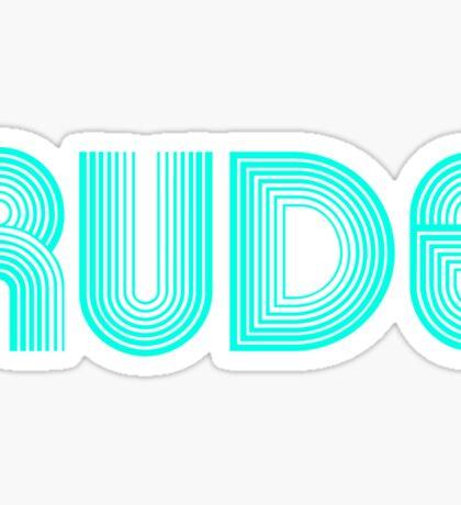 Rude Blue Neon Sticker