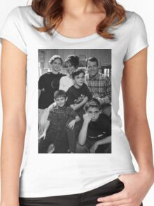 Malcolm in the Middle B&W photo Women's Fitted Scoop T-Shirt