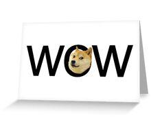 WOW Doge Greeting Card