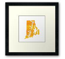 Rhode Island - yellow watercolor Framed Print