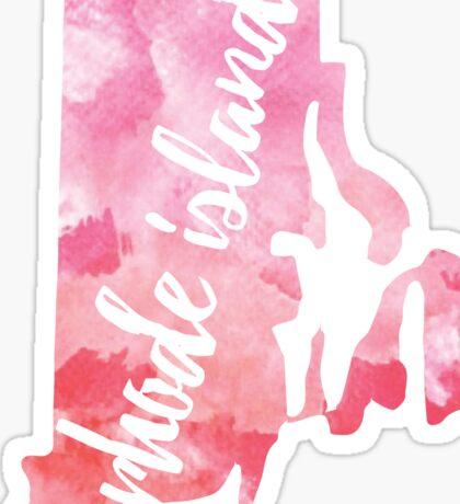 Rhode Island - Pink watercolor Sticker