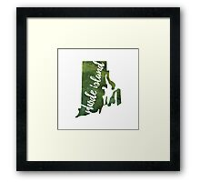 Rhode Island - green watercolor Framed Print