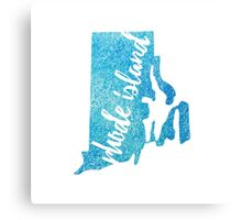 Rhode Island - blue watercolor Canvas Print