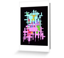Rectangle Abstract   Greeting Card