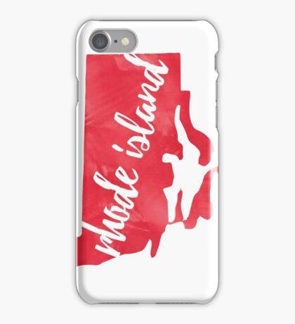 Rhode Island - Red Watercolor iPhone Case/Skin