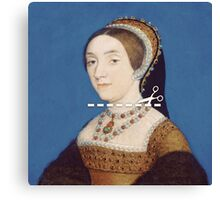Cut Here - Catherine Howard Canvas Print