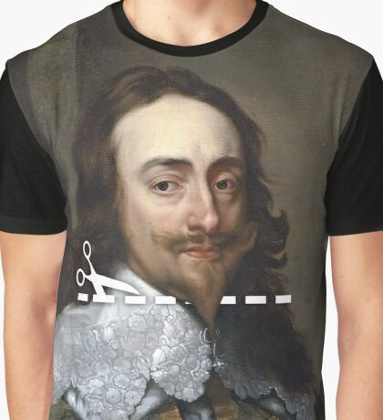 Cut Here - Charles I Graphic T-Shirt