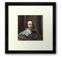 Cut Here - Charles I Framed Print