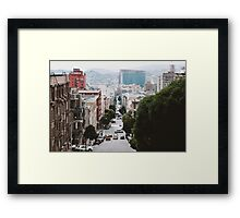 On California Street (San Francisco) Framed Print