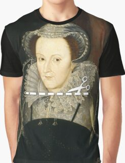 Cut Here - Mary, Queen of Scots Graphic T-Shirt