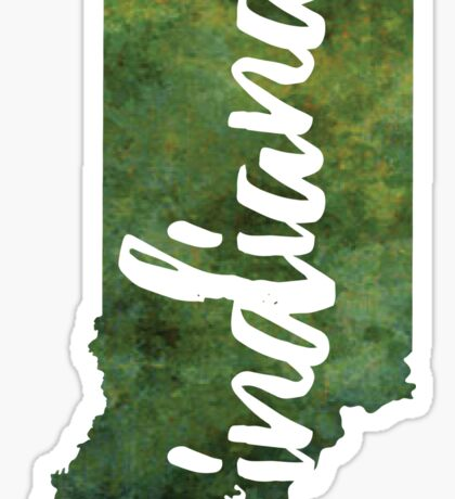 Indiana - green watercolor Sticker