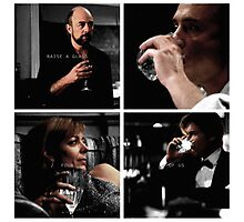 Raise a glass to the four of us Photographic Print