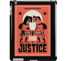 the greatest fight in history iPad Case/Skin