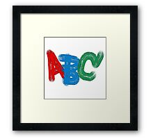 """ABC"" typography Framed Print"