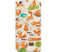 Cute foxes iPhone Case/Skin