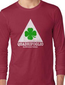 Quadrifoglio Vintage Graphic  Long Sleeve T-Shirt