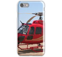 Helicopter, red, aircraft iPhone Case/Skin