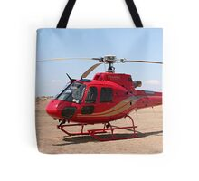 Helicopter, red, aircraft Tote Bag