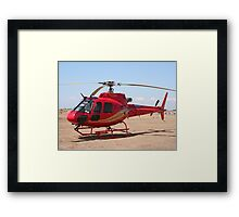 Helicopter, red, aircraft Framed Print