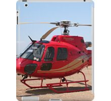 Helicopter, red, aircraft iPad Case/Skin