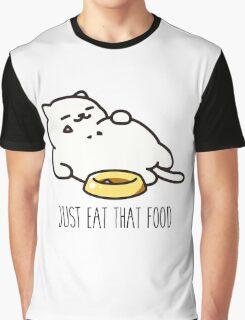 Neko Atsume - Just Eat That Food Graphic T-Shirt