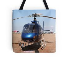 Blue helicopter aircraft Tote Bag