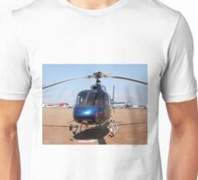 Blue helicopter aircraft Unisex T-Shirt