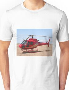 Helicopter, red, aircraft Unisex T-Shirt
