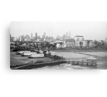 Melbourne Skyline Metal Print